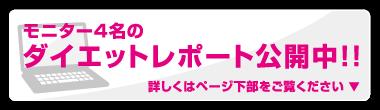 モニター4名のダイエットレポート公開中!